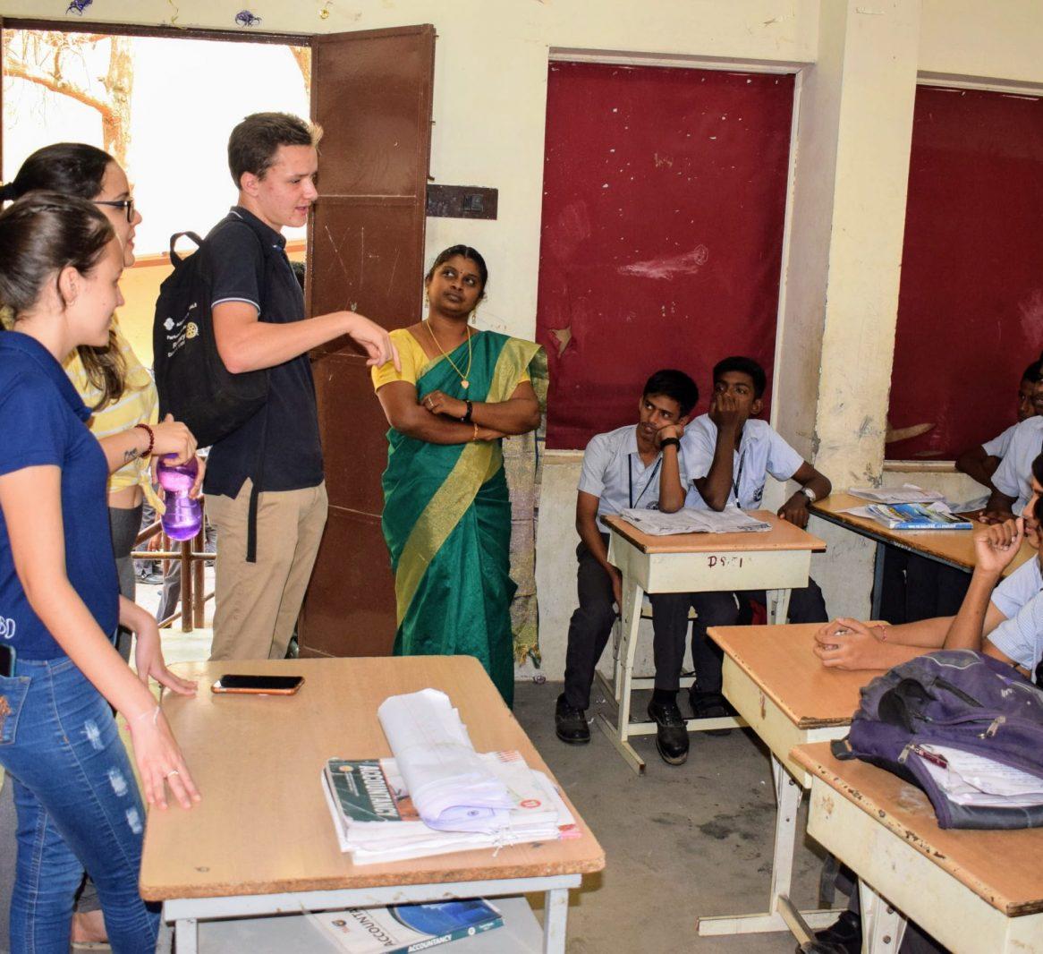 Guhan Matriculation Higher secondary school madurai Rotary youth exchange Mariana